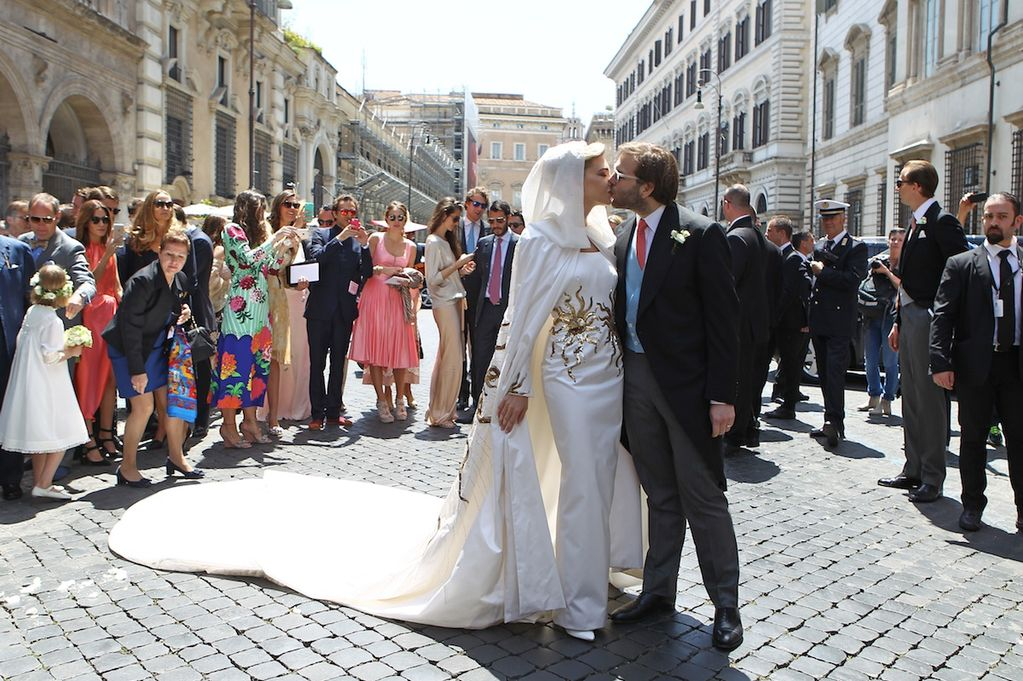 Billionaire oil heir Joseph Getty tied the knot with his Lebanese girlfriend Sabine Ghanem in a lavish ceremony in the heart of Rome. (Xposure Photos)
