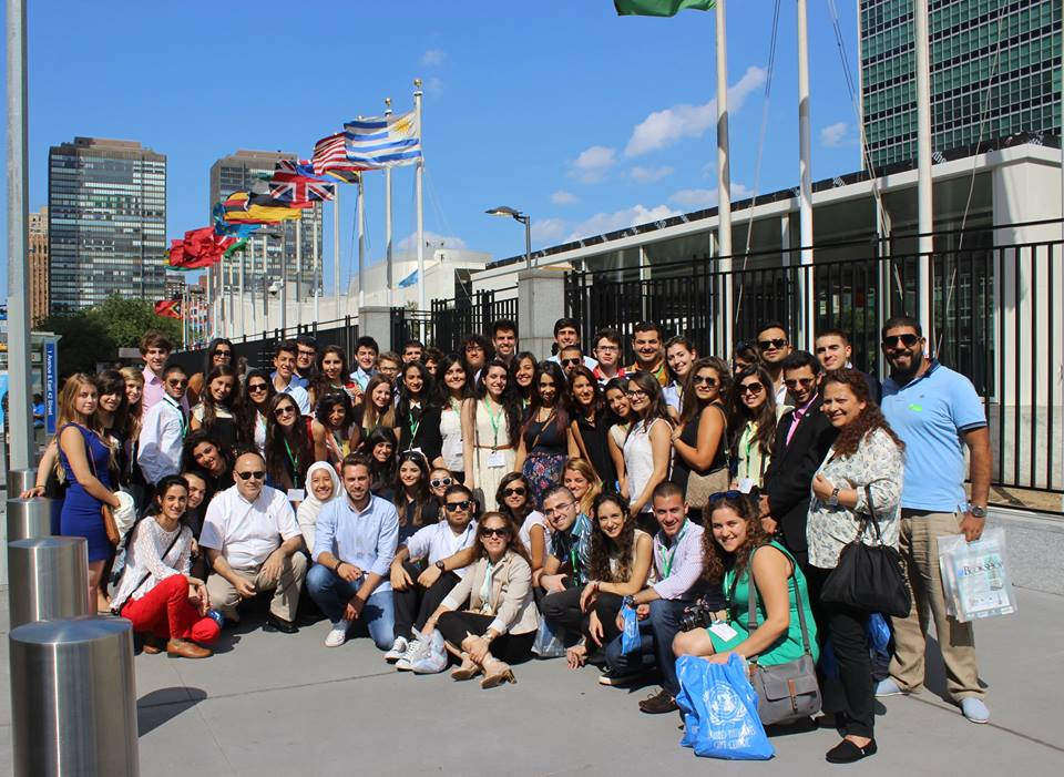 """LAU has offered me the best experience: to be part of a global program that introduced me into the world of diplomacy,"" said Anwar Tarabay, a student who participated in last year's program. (Photo via Hariri High School II)"