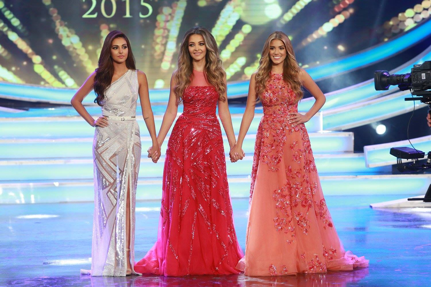Abou Chacra earned a majority of points from the judges. Josline Mosleh and Cynthia Samoeil were first runners-up, and Nour Nasrallah and Maria Tannous came in second and third place, respectively. (Photo via LBCI)