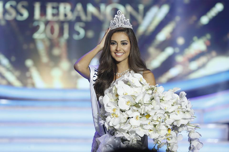 Valerie Abou Chacra, a 23-yaer-old student at the Lebanese American University, was elected Miss Lebanon 2015 by a panel of judges on October 12, 2015. (Photo via LBCI)
