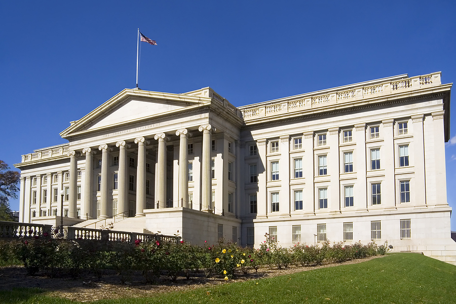 The United States Treasury Department in Washington, DC, USA. (File photo)