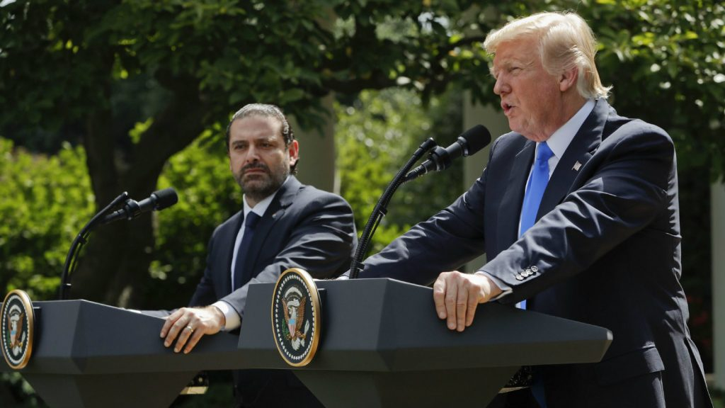 President Donald Trump, Lebanese Prime Minister Saad Hariri host joint press conference outside of The White House in Washington, DC on July 25. (Wire photo)