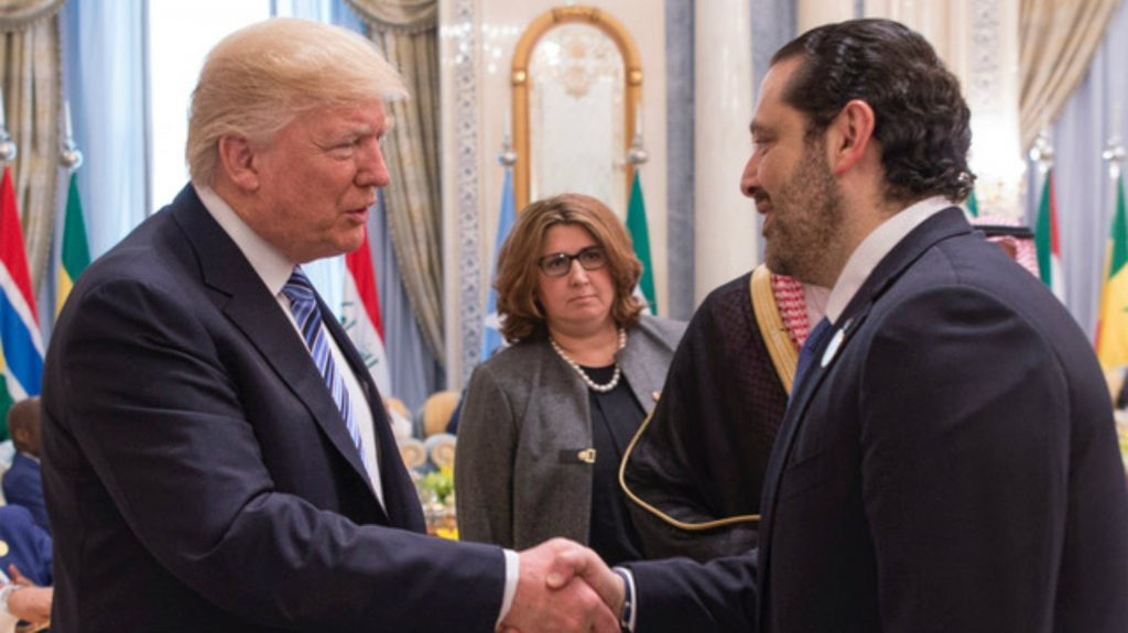 Trump, Hariri meet in White House, urge fighting against terrorism
