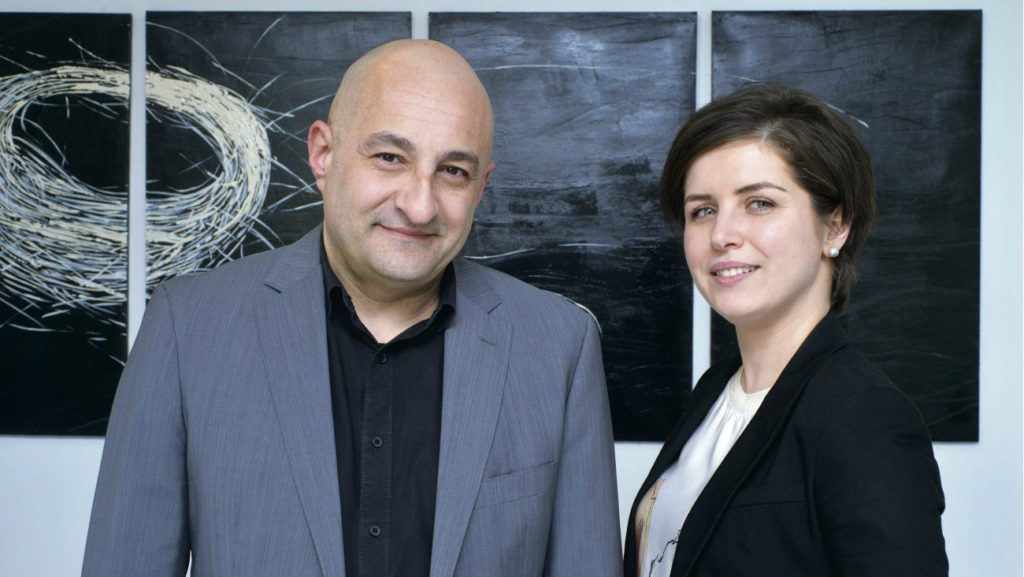Nadia and co-founder Antoine Saab (Executive Magazine)