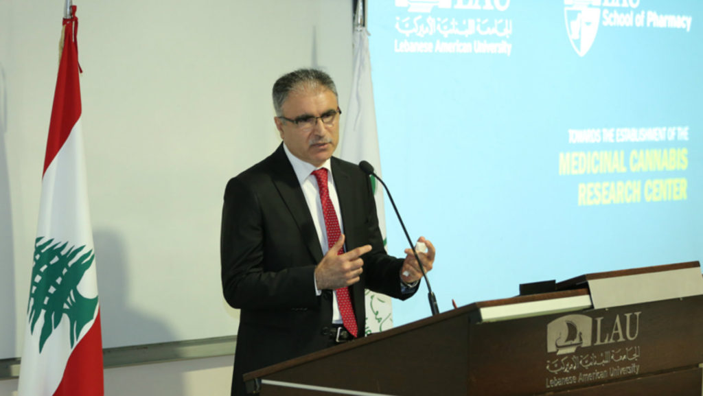 Professor Mohammad Mroueh discusses the medical potential of marijuana. (LAU photo)
