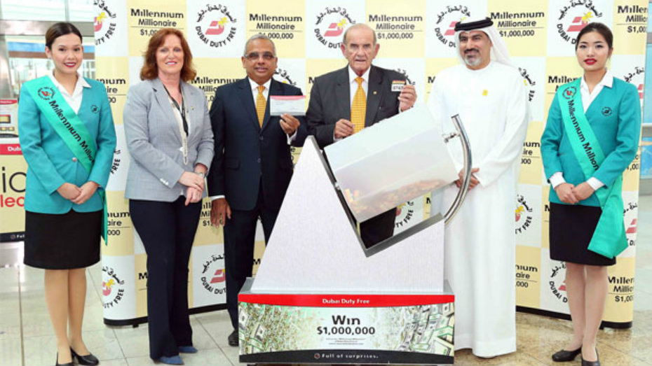 Musleh Mousa Hassan won $1 million in Dubai Duty Free drawing for the second time. (Dubai Duty Free)