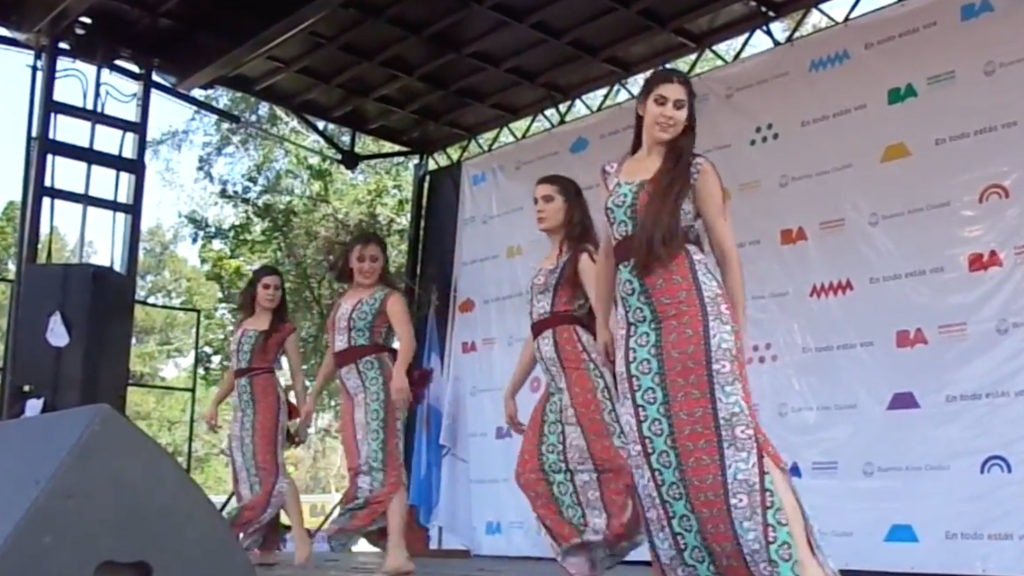 Dancers perform to Lebanese love song at a festival in Buenos Aires. (YouTube screenshot)