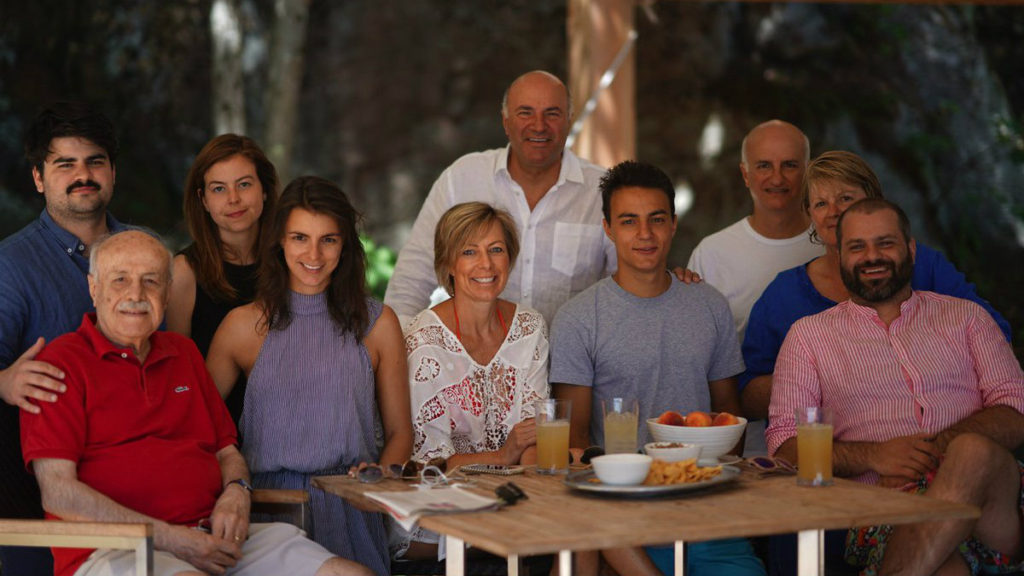 Kevin O'Leary and his family. (Facebook/Kevin O'Leary)