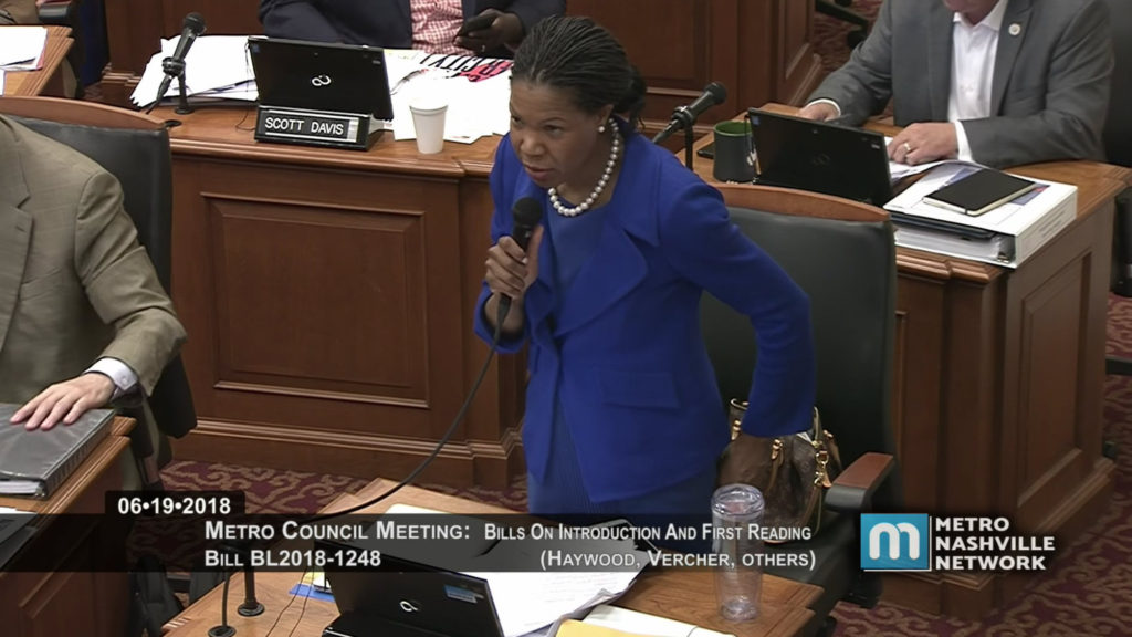 Tennessee politician Erica Gilmore compared youth violence in Nashville to Beirut. (YouTube/Metro Nashville)