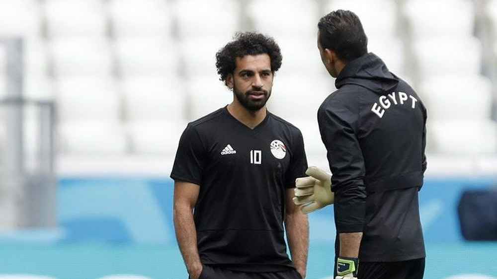 Mohamed Salah plays for the Egyptian National team (Express and star)