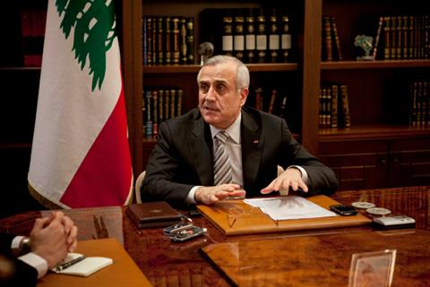 President Michel Sleiman speaks during an interview with The Daily Star at the Presidential Palace in Baabda, Lebanon, Wednesday, March 14, 2012.
