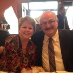 (L-R) Kim and John Feghali