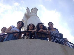 Back to Roots 2014 participants visit Our Lady of Lebanon Harissa. Photo courtesy Back to Roots.