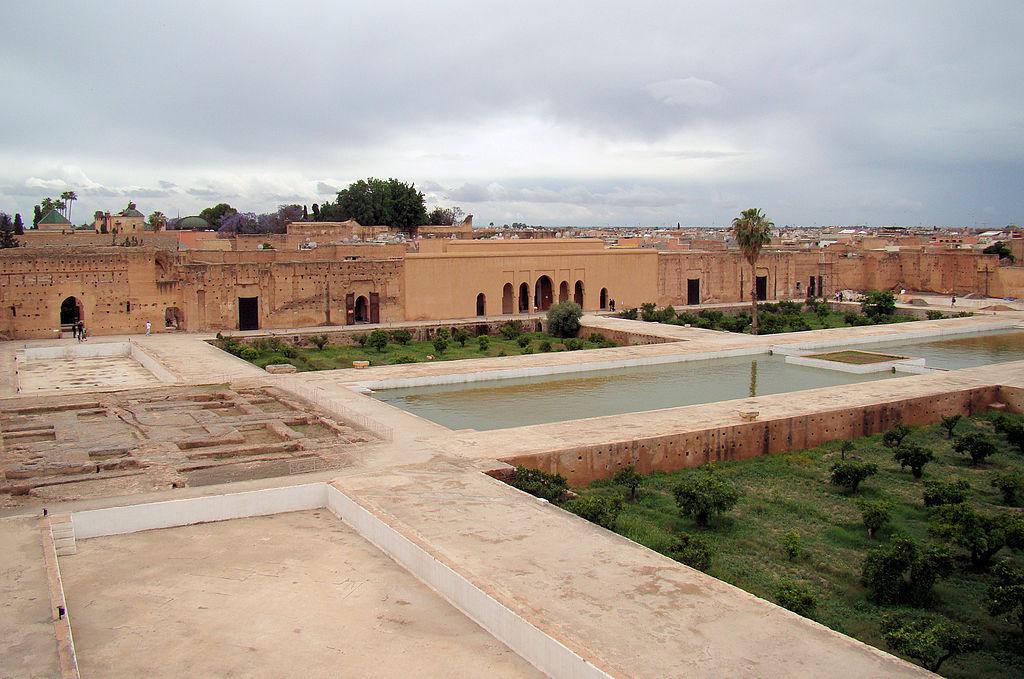 The courtyard of the El Badi Palace in Marrakesh, Morocco. (Wikimedia)