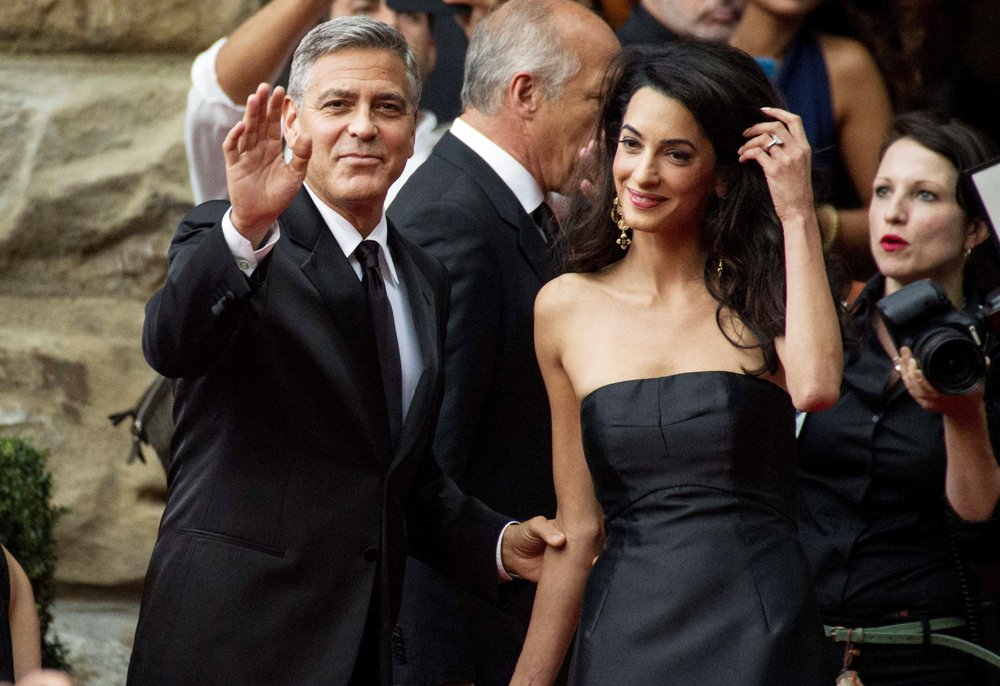 """On Tuesday May 19, George Clooney announced that he and his wife Amal Alamuddin were planning to visit Beirut in the """"near future"""" to meet his Lebanese in-laws. Clooney said his wife has been teaching him more about her Lebanese culture. Photo SHOTPRESS/WENN"""