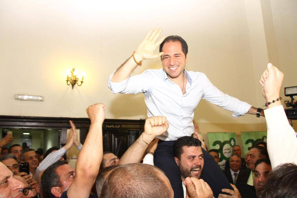 MP Samy Gemayel was elected the new head of the Kataeb party on Sunday, June 14, 2015, after garnering 339 votes. (Photo via Kataeb.org)
