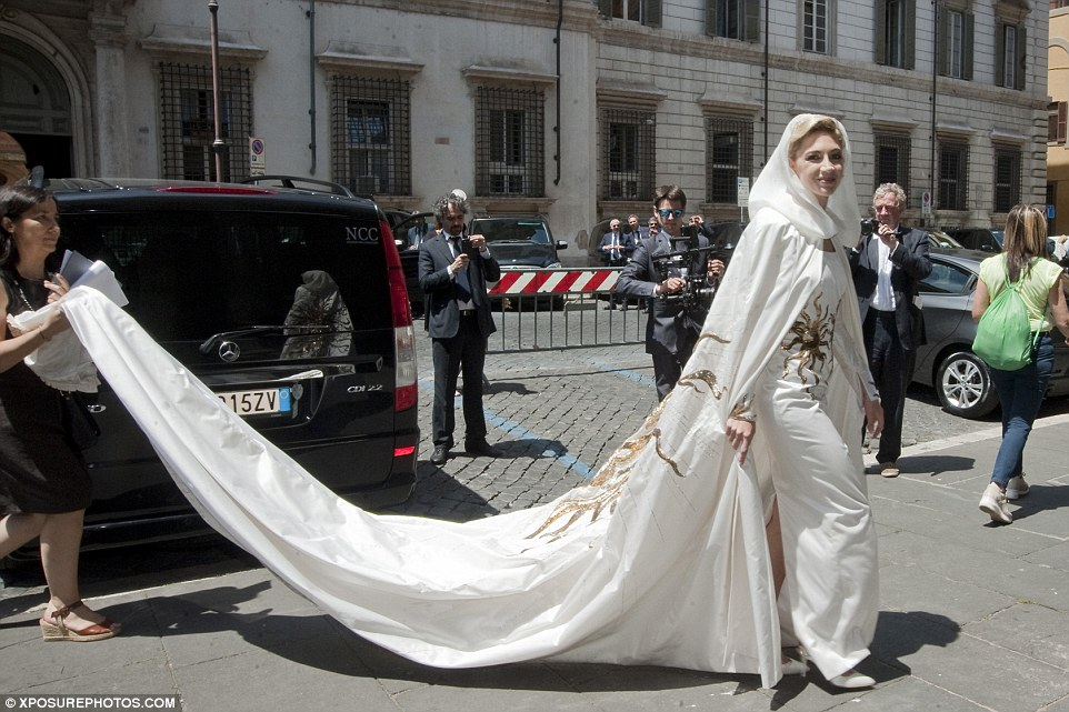 The Lebanese bride's gown required two assistants to trail at all times. (Xposure Photos)