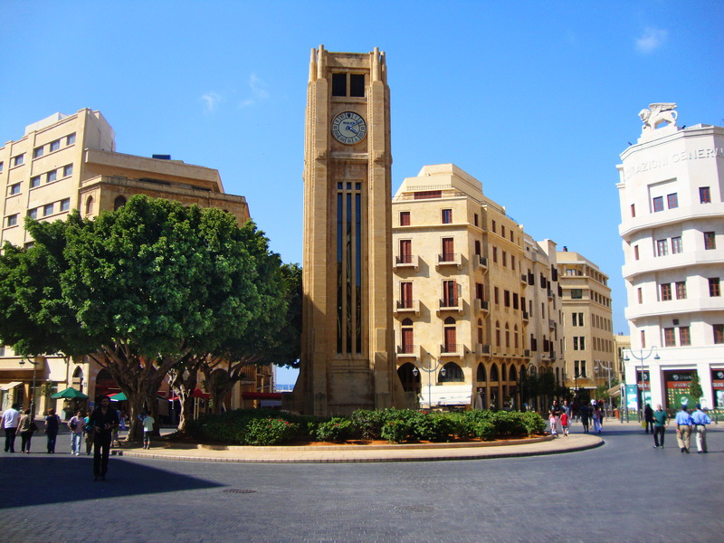 Nejmeh Square is the heart of the Beirut City Center. (File Photo)