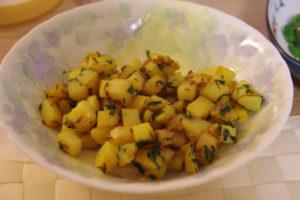 vegan lebanese batata harra spicy potatoes