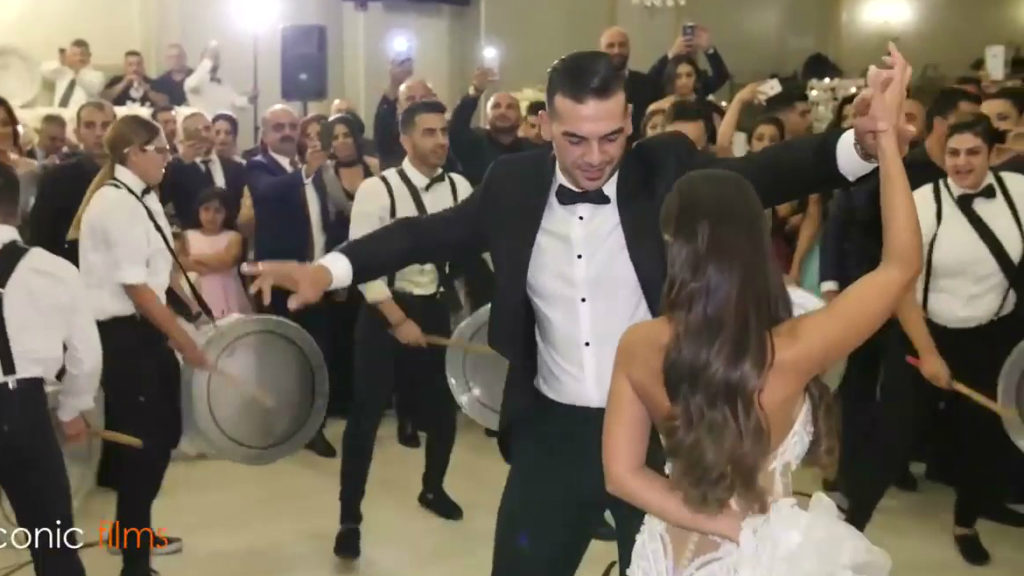 Assyrian Lebanese mixed wedding entry Lebanon wedding
