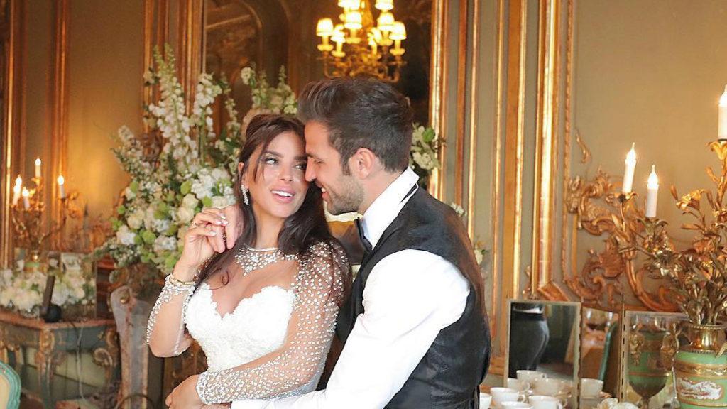 Barcelona football star Cesc Fàbregas marries Lebanese girlfriend