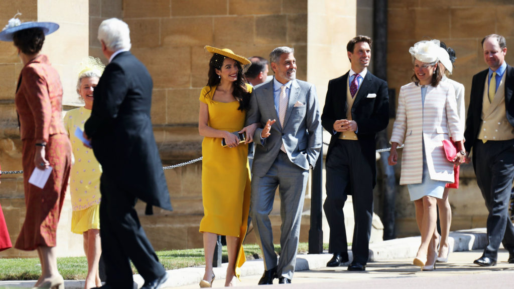 Amal Clooney Shines In Canary Yellow Dress At Royal Wedding