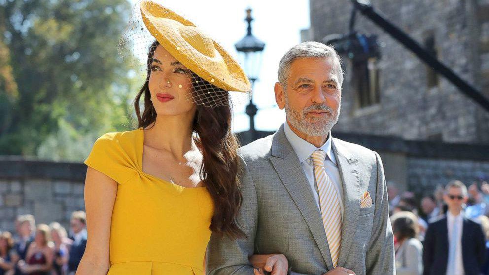 lebanese amal and george clooney at royal wedding 3