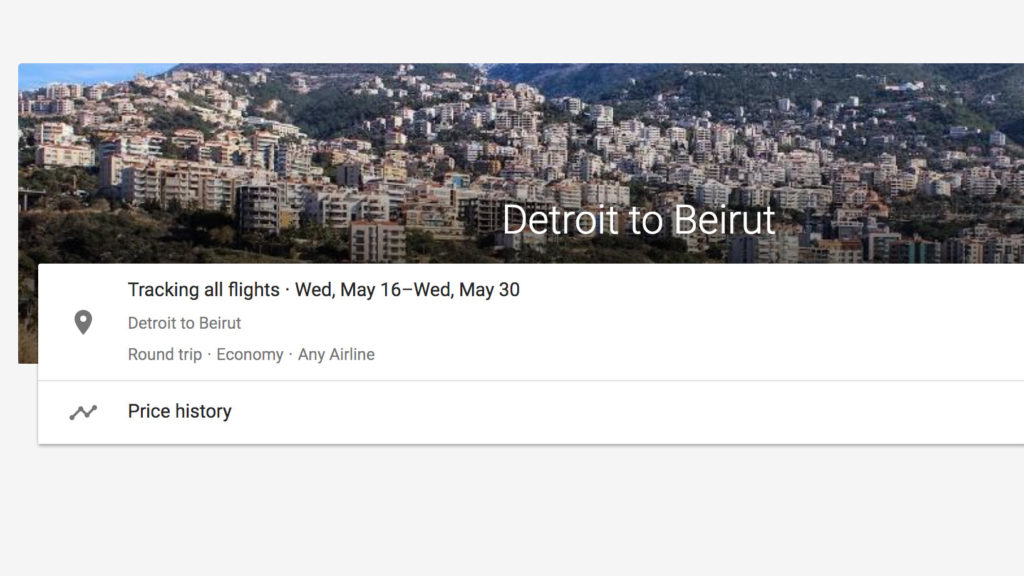 tracking flight to beirut