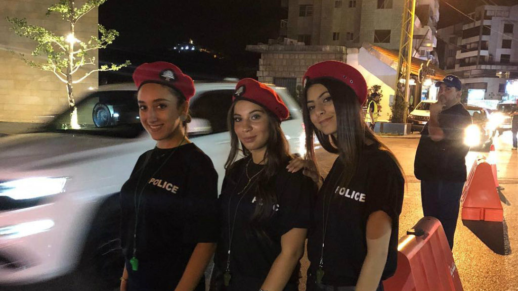 female police officers in shorts lebanon 1