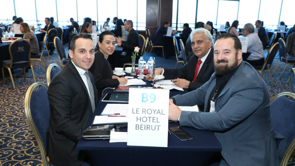The gathering of hosted buyers was held at the Le Royal Hotel on May 10, 11 in Beirut. (Photo provided/Le Royal Hotel)
