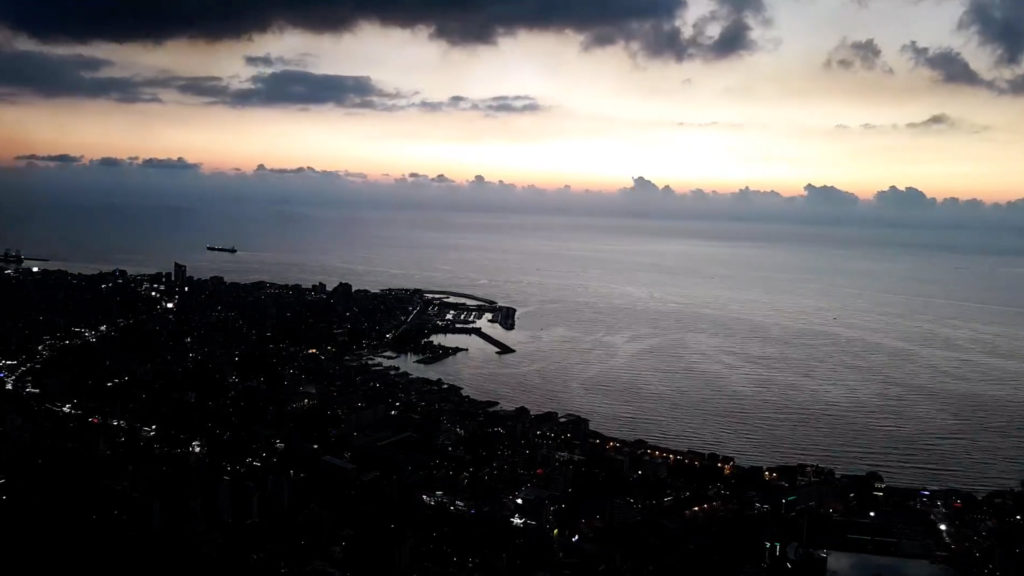 Timelapse video shows the sun setting from Jounieh. (YouTube screenshot)
