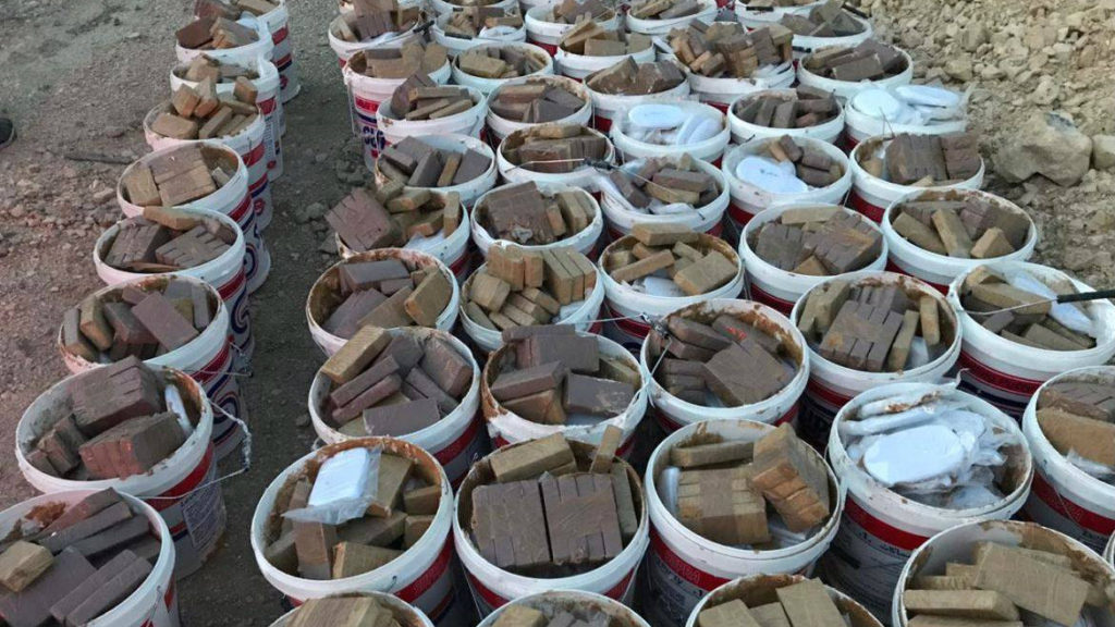 More than 15 tons of marijuana were recovered. (Photo provided/Internal Security Forces)