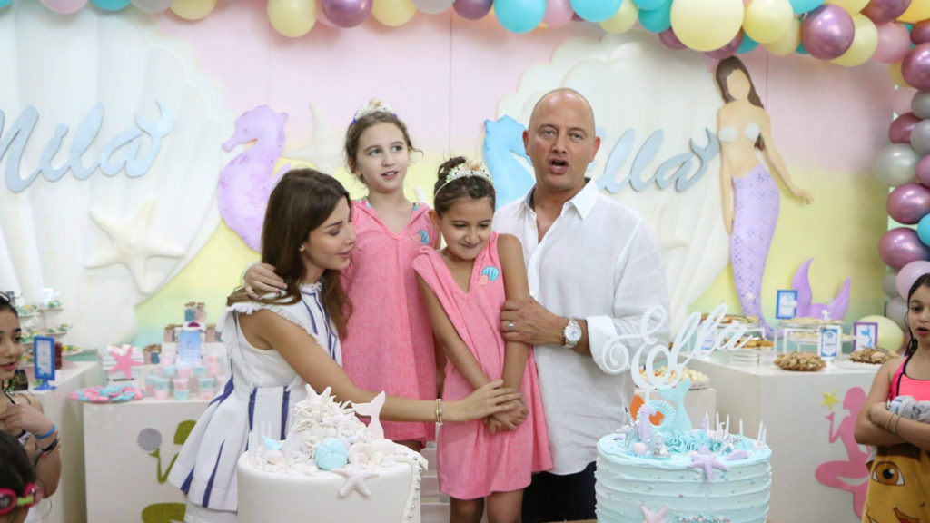 Nancy Ajram celebrates her daughters' birthday at the Jeita Country Club. (Facebook photo)