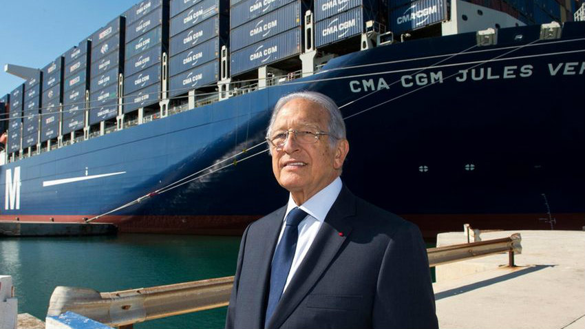 Jacques Saadé was the founder of CMA CGM Group. (CMA CGM Group)