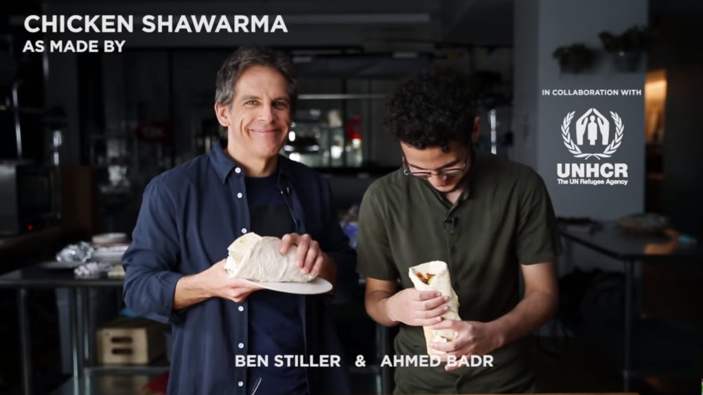 Ben stiller Lebanese food Chicken Shawarma