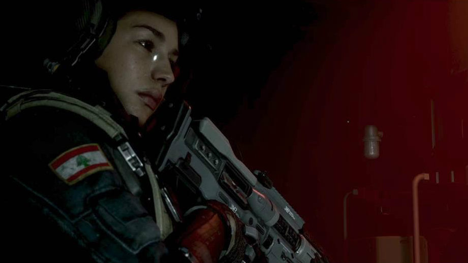 Jamie Gray Hyder plays a Lebanese character in Call of Duty: Infinite Warfare. (Facebook/Jamie Gray Hyder)