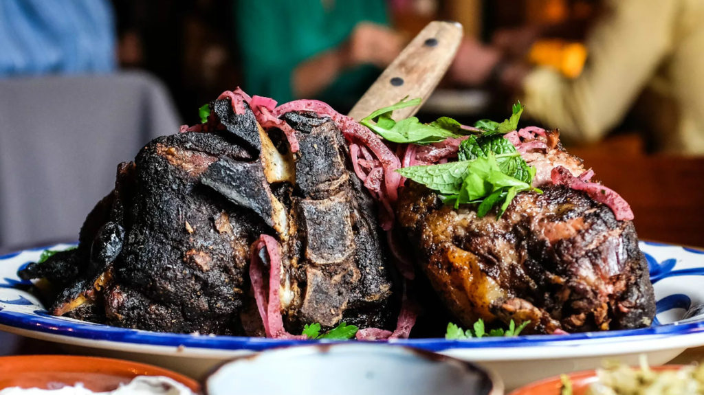 Smoked Lamb Shoulder is one of the most popular items on the menu (Eater.com)