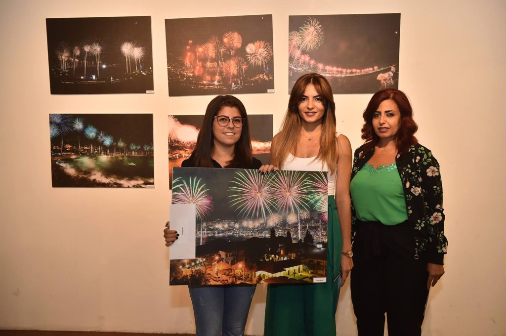 Carine Assaf won fourth place in the Jounieh fireworks photo contest. (Jounieh International Fireworks)