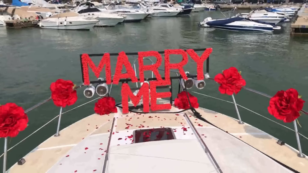 wedding proposal lebanese yacht 1