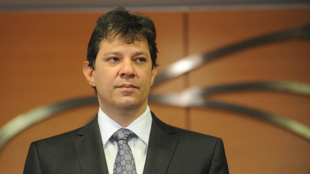 Fernando Haddad was Mayor of São Paulo, Brazil's largest city, from 2013 to 2017. (File photo)