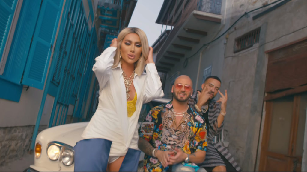 "Maya Diab, Massari and French Montana collaborated on their own version of the Arabic classic, ""Ya Nour El Ein."" (YouTube screenshot/Massari)"